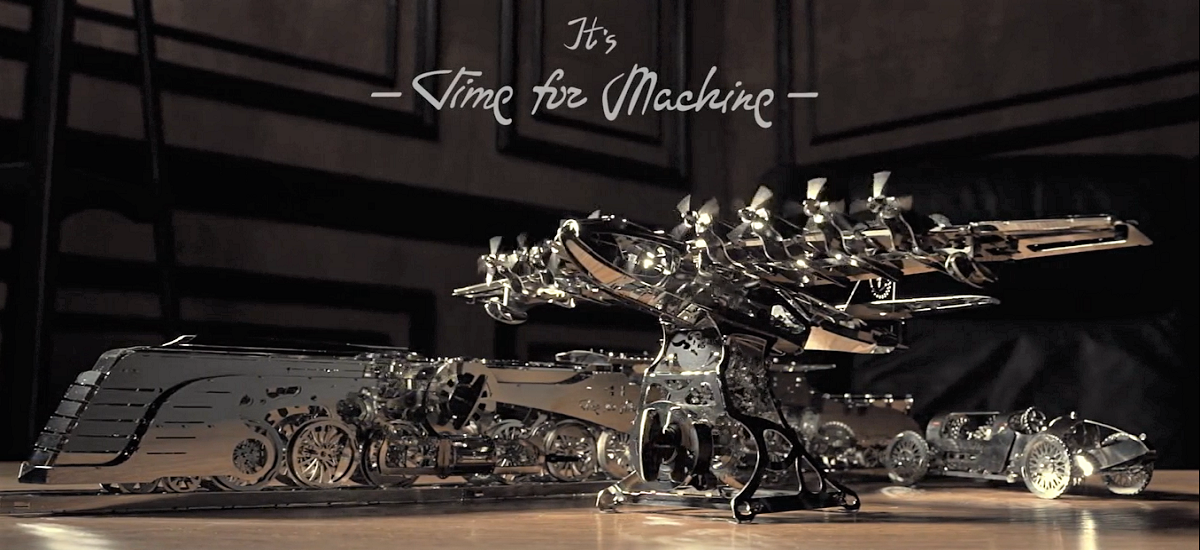 He left his own company and started building models of metal. Today he s doing great on Kickstarter