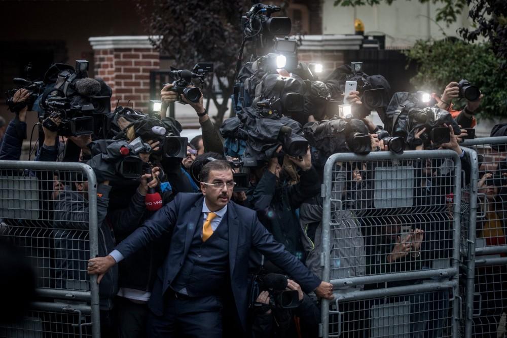 Fot. Chris McGrath/Getty Images. I miejsce w kat. Wiadomości, zdjęcie pojedyncze. Stambuł, przed konsulatem Arabii Saudyjskiej, po zaginięciu dziennikarza Dżamala Chaszukdżiego.