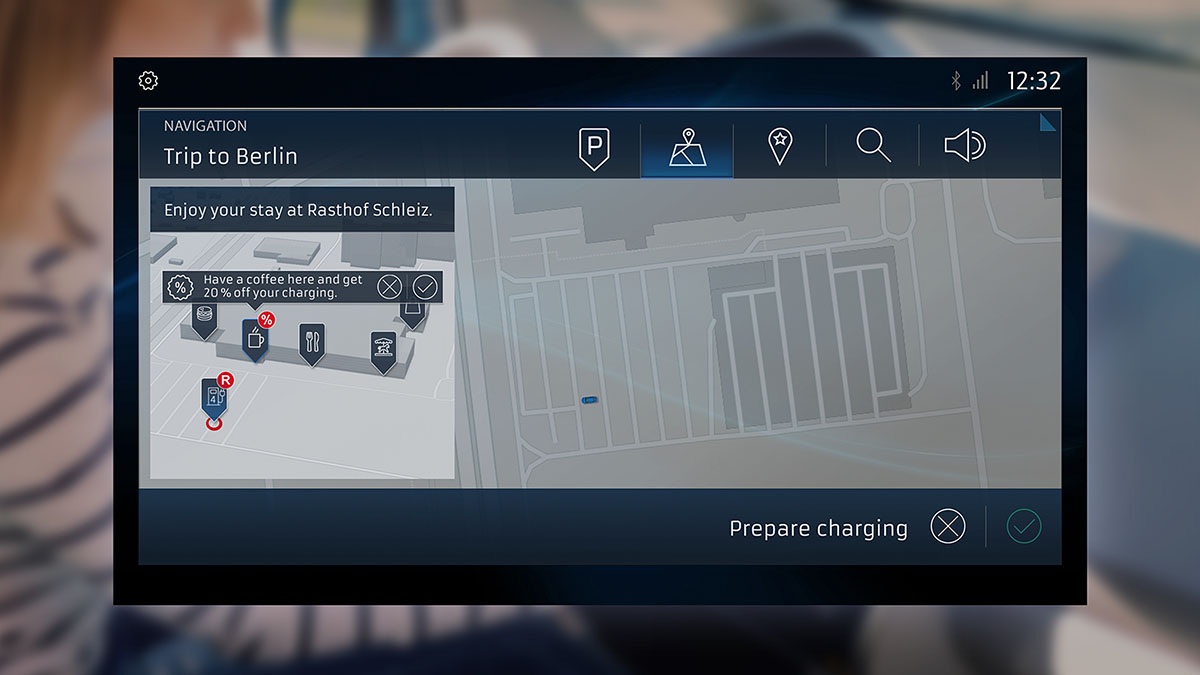 automatyczne szukanie parkingu stacji ładującej