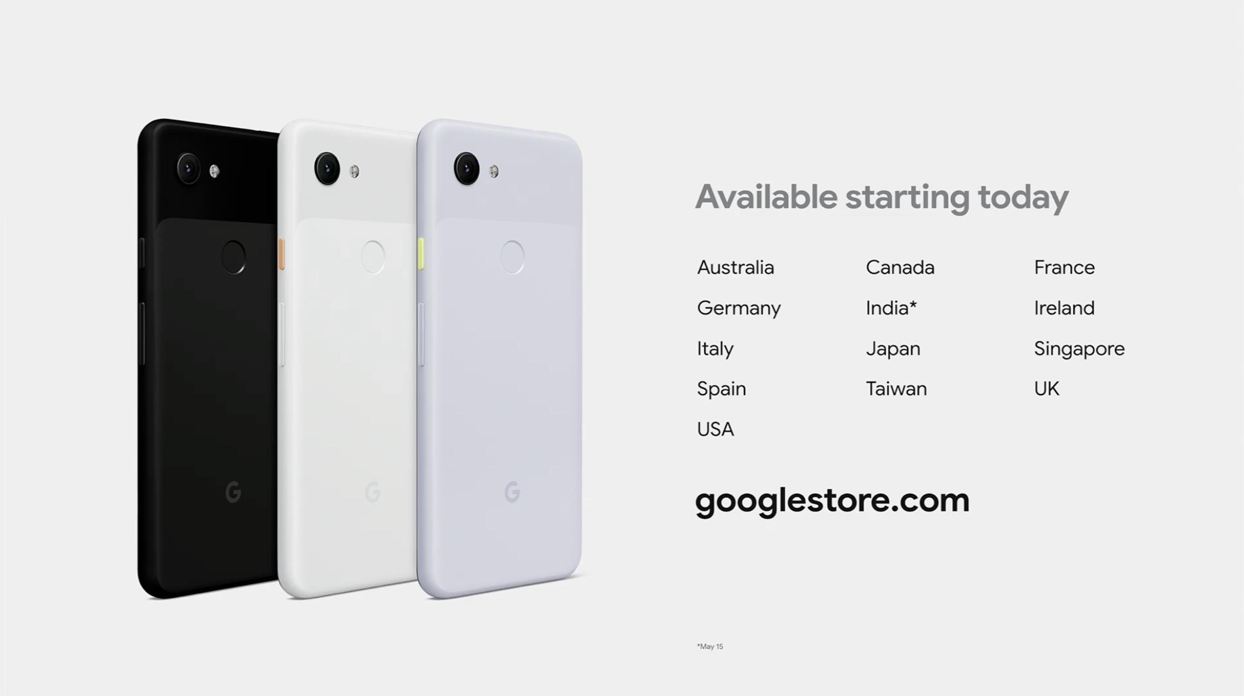 Google Pixel 3a specyfikacja