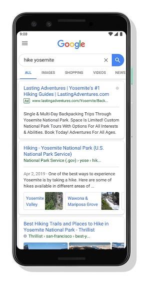 wyszukiwarka google zmiana