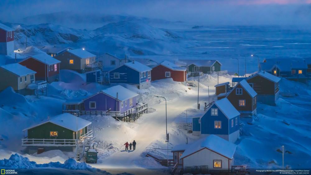 "Fot. Weimin Chu ""Greenlandic Winter"", laureat National Geographic Travel Photographer of the Year 2019"