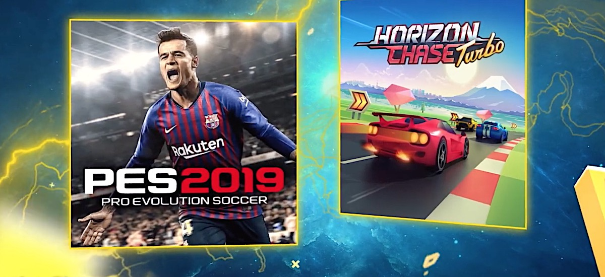 Just in time for the beginning of Ekstraklasa: free games in PS Plus for  July are PES 2019 and Horizon Chase Turbo