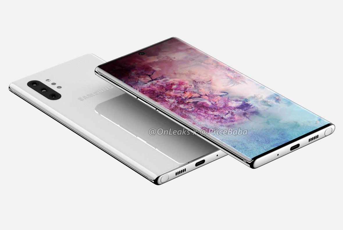 Samsung Galaxy Note 10 na dokładnych renderach. Smartfon ma coraz mniej tajemnic