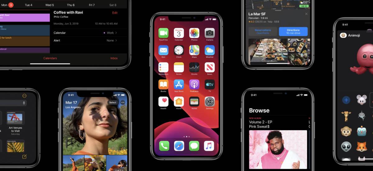 iPhone iOS tryb ciemny dark mode