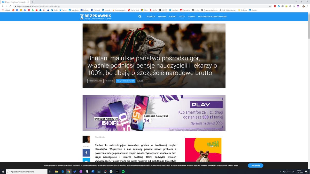 Tryb czytania Google Chrome