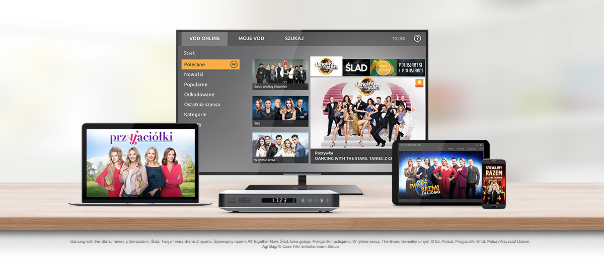 Television over the Internet and VOD services are complementary, and do not  exclude  We test Cyfrowy Polsat GO