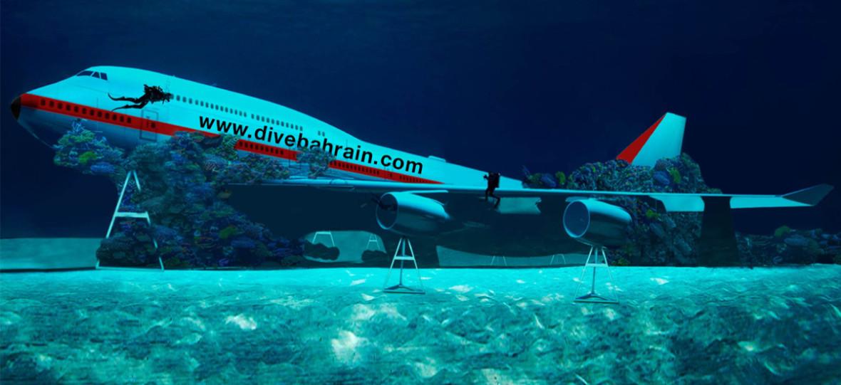 Mają rozmach. Podwodny park Dive Bahrain zatopił właśnie Boeinga 747 w celach… rozrywkowych