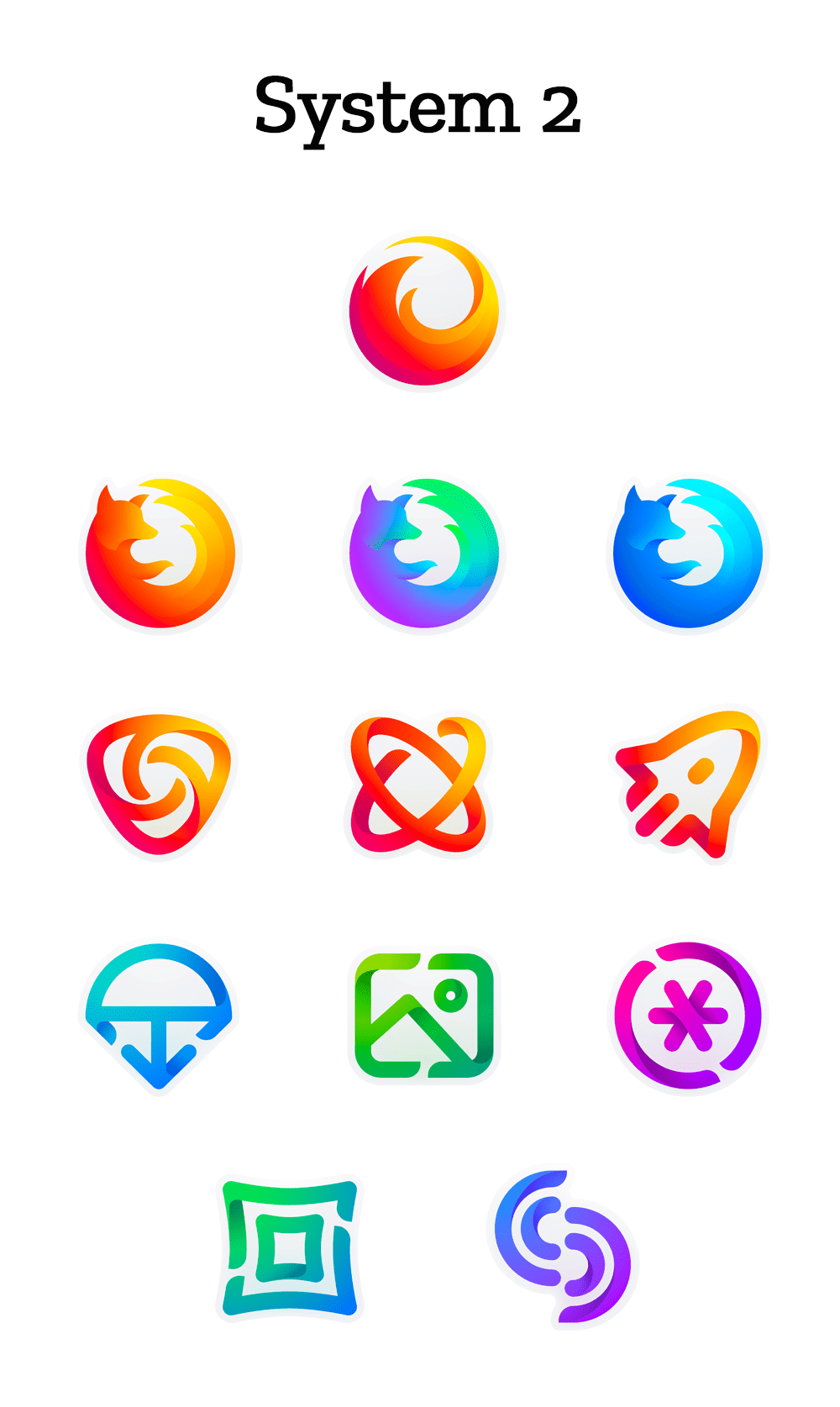New firefox logo suggestions