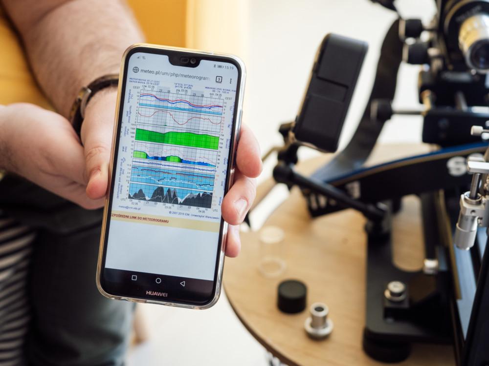 Aplikacja ICM Meteo na smartfonie Fot. Krzysztof Basel