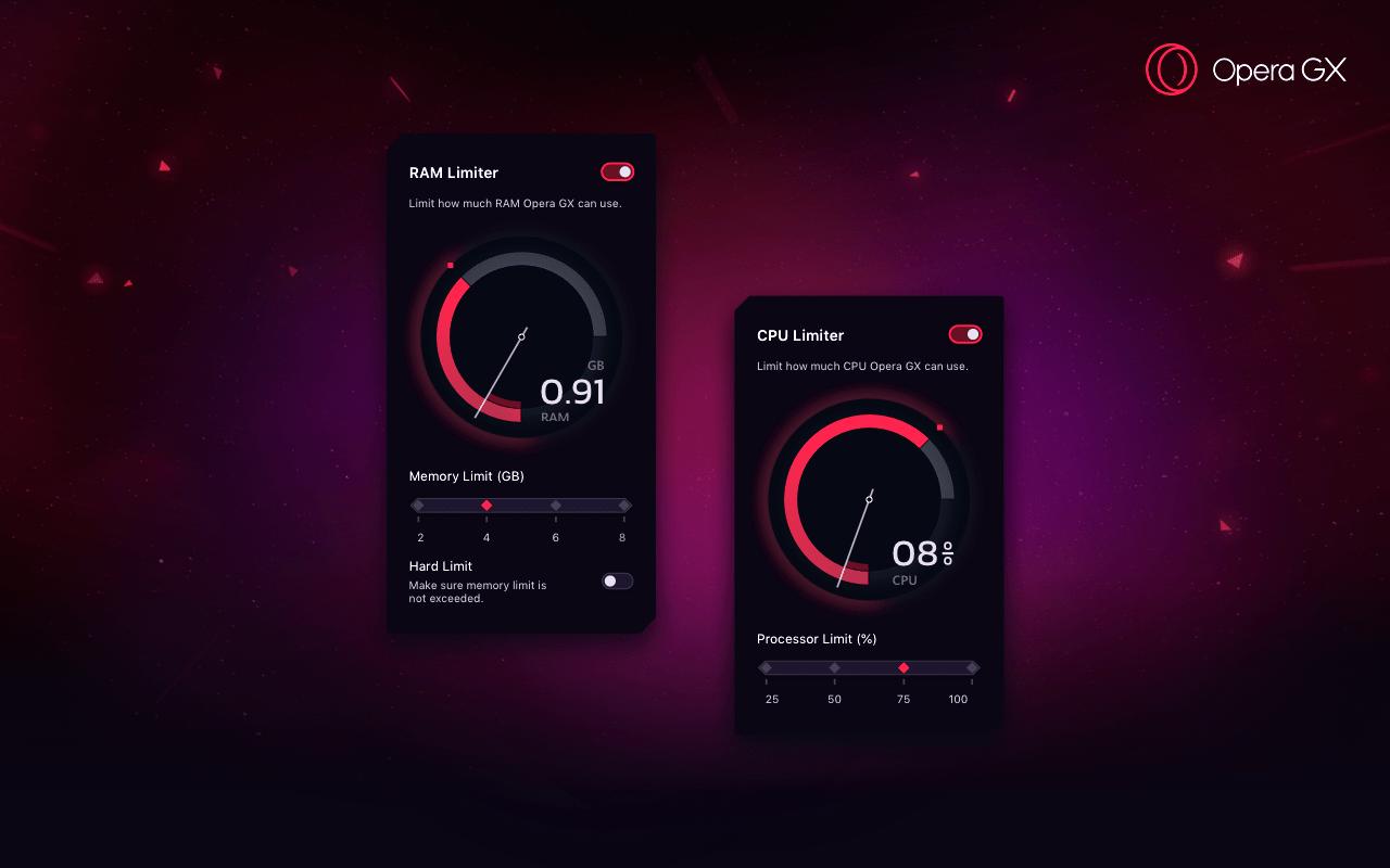 Konsola GX w przeglądarce Opera GX