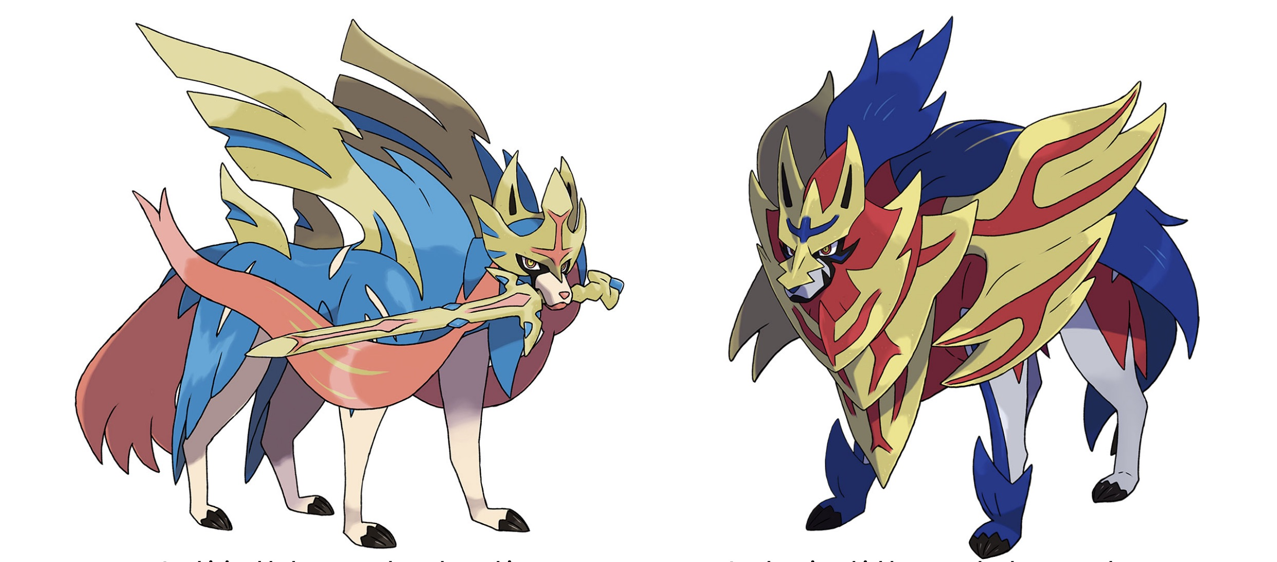 pokemon sword pokemon shield legendarne pokemony Zacian i Zamazenta
