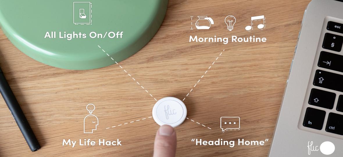 Jedno naciśnięcie przycisku Flic 2.0 wystarczy, by wyłączyć budzik, włączyć muzykę czy zrobić kawę