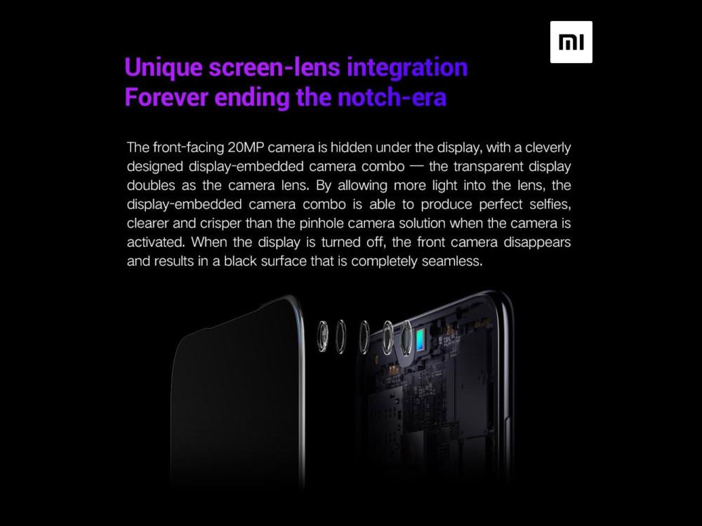Xiaomi aparat pod ekranem