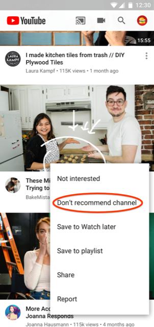 Jak zablokować czyjś kanał w polecanych na YouTubie