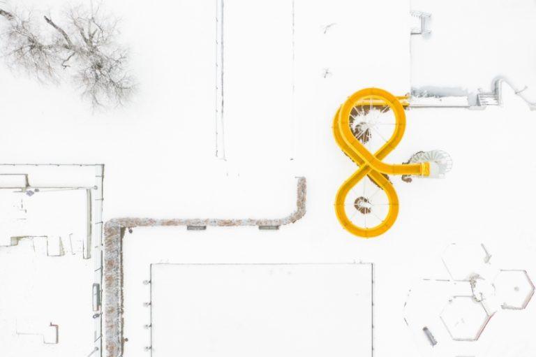 """Fot. Marcin Giba / """"Winter City (3)"""" / wyróżnienie w kategorii """"Urban"""""""