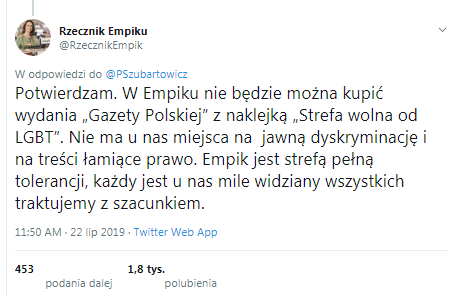 Empik nie dla Gazety Polskiej