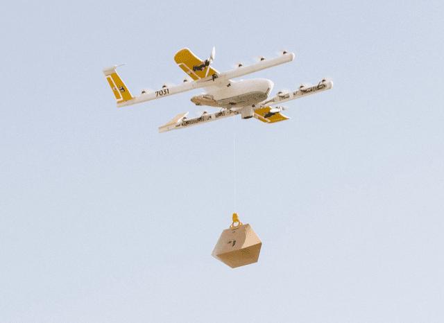 dostawa dronami wing