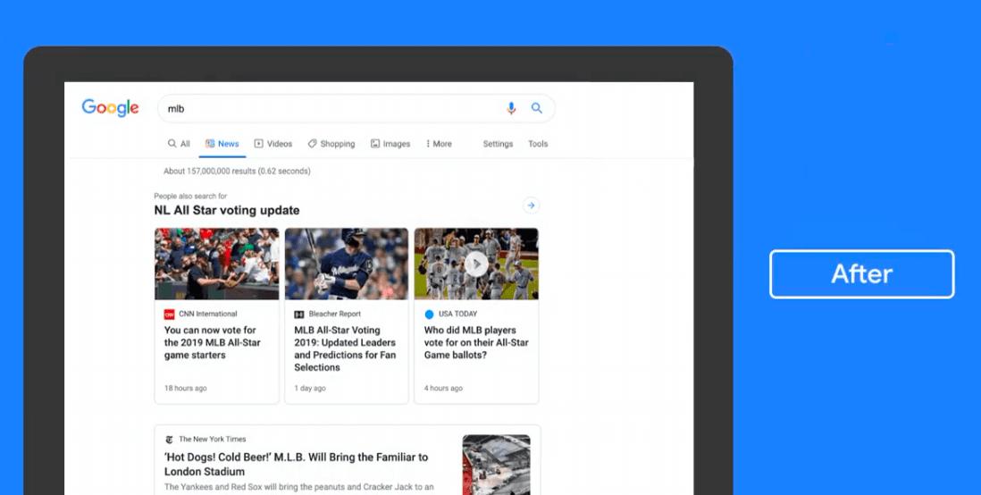 Wiadomości Google nowy wygląd