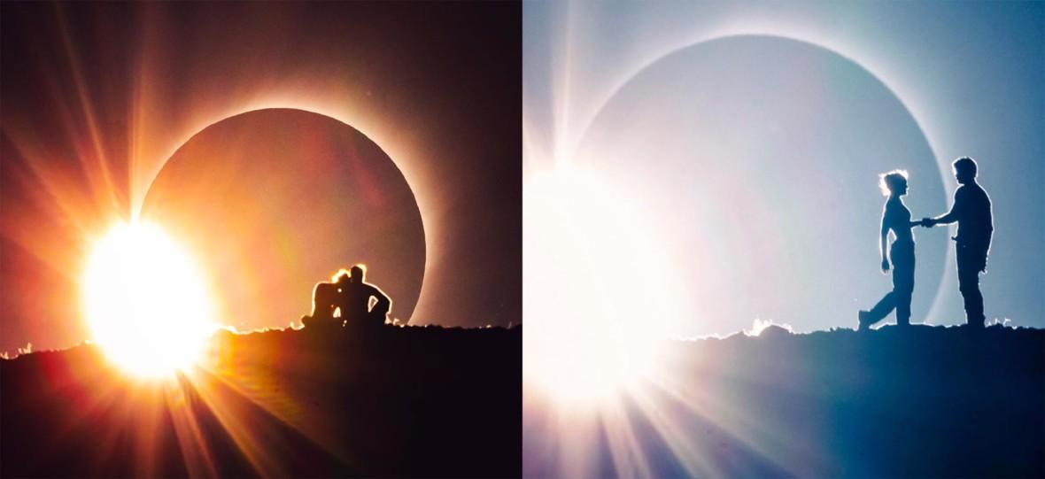 To pierwsza taka scena filmowa z zaćmieniem słońca w tle. Mieli zaledwie 2 minuty