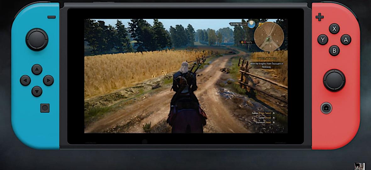 Wiedźmin 3 na Nintendo Switch bez ściemy – zwiastun i gameplay pokazuje wielką grę upchniętą na mały ekran