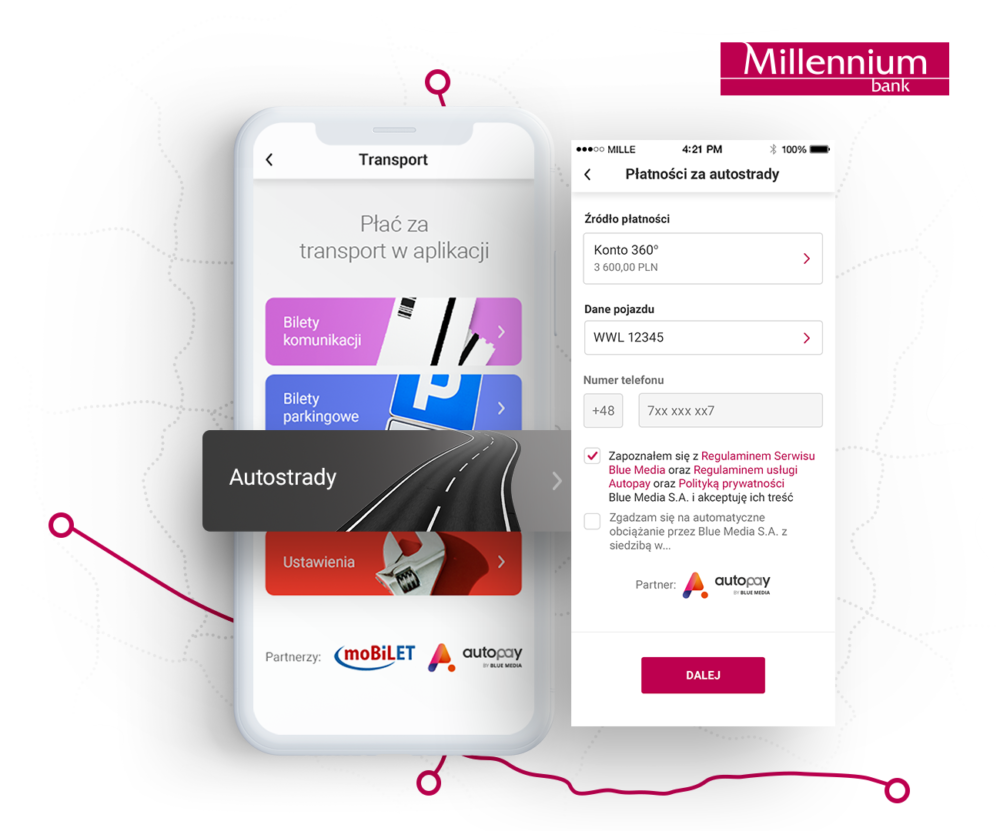 aplikacja mobilna Banku Millennium Autopay