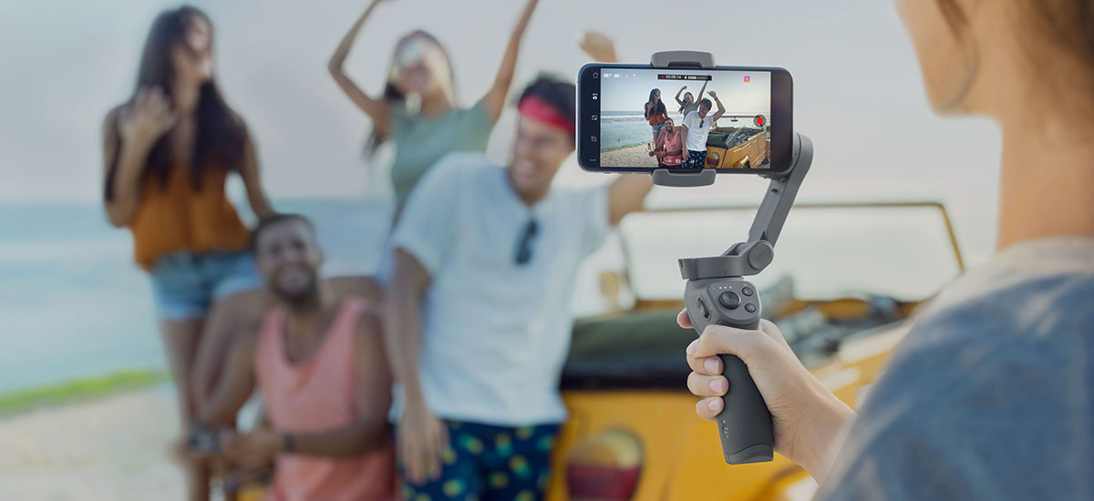 But he is cheap. Here is the new DJI Osmo Mobile 3 - foldable smartphone gimbal