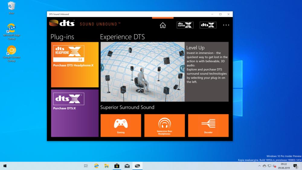 DTS:X Windows Xbox