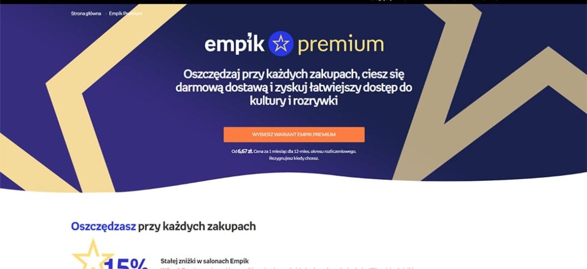 Rusza Empik Premium. Zniżki i darmowa wysyłka na abonament