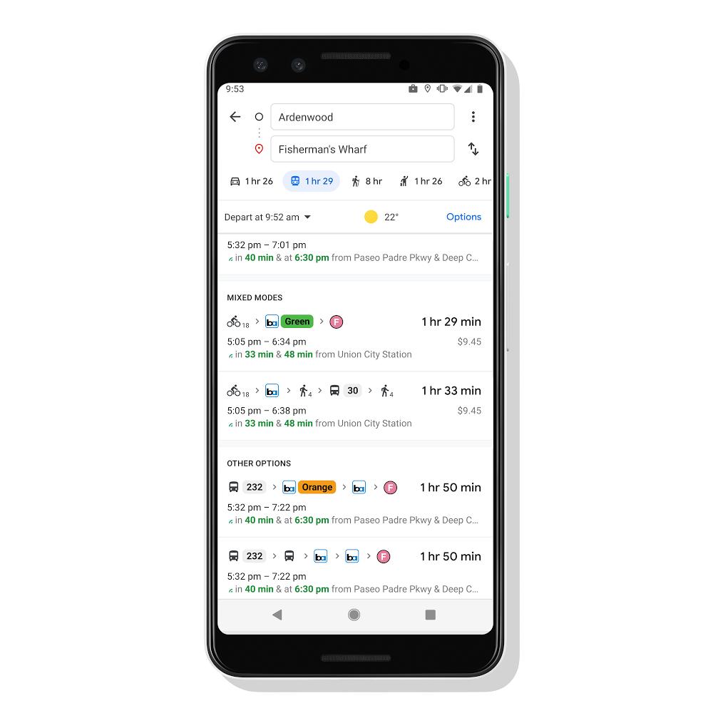 Mapy Google nowe funkcje