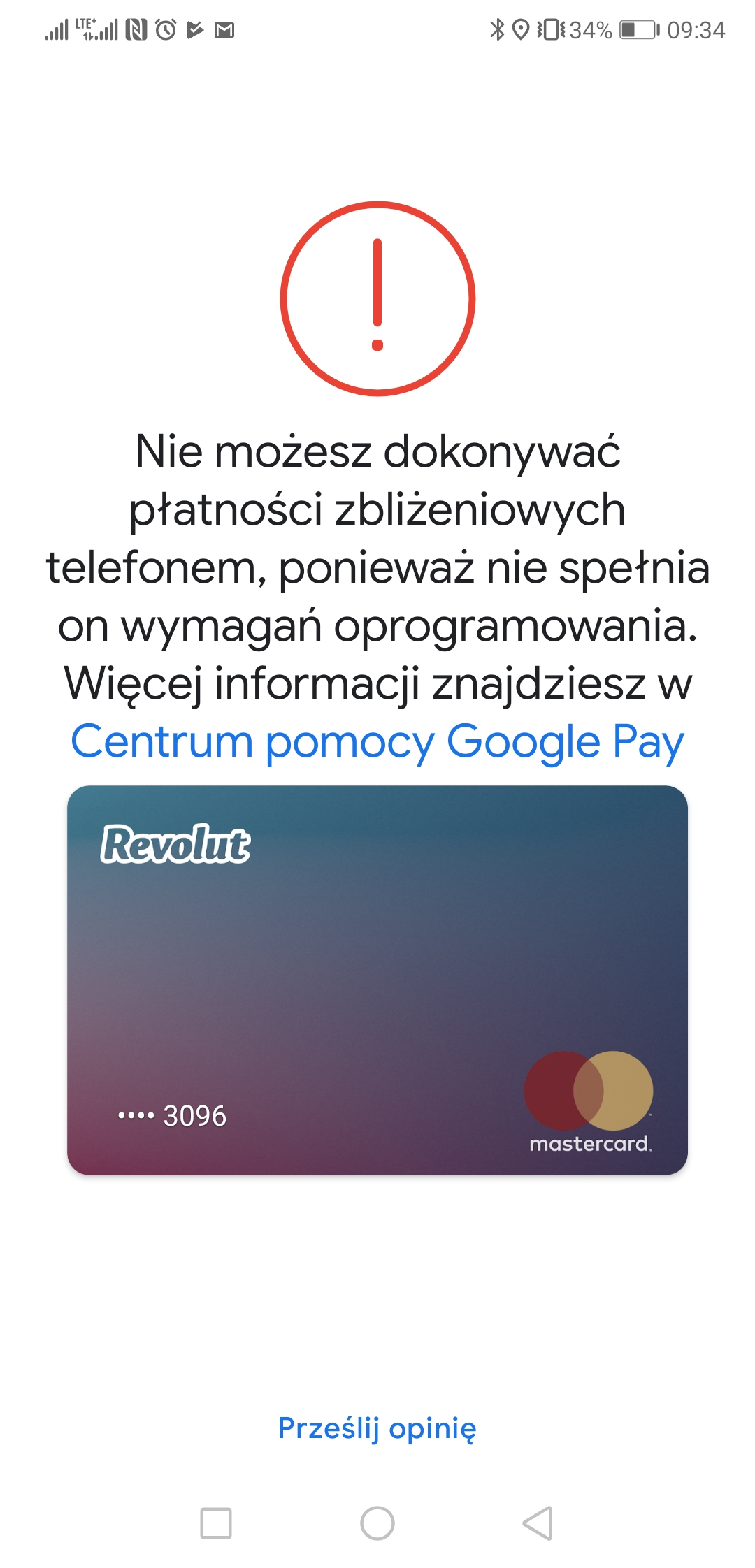 huawei p20 p20 pro without google play protect android pay certificate is not working