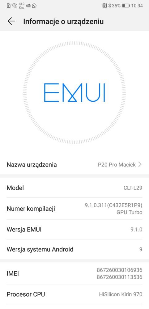 huawei p20 p20 pro bez certyfikatu google play protect android pay nie działa