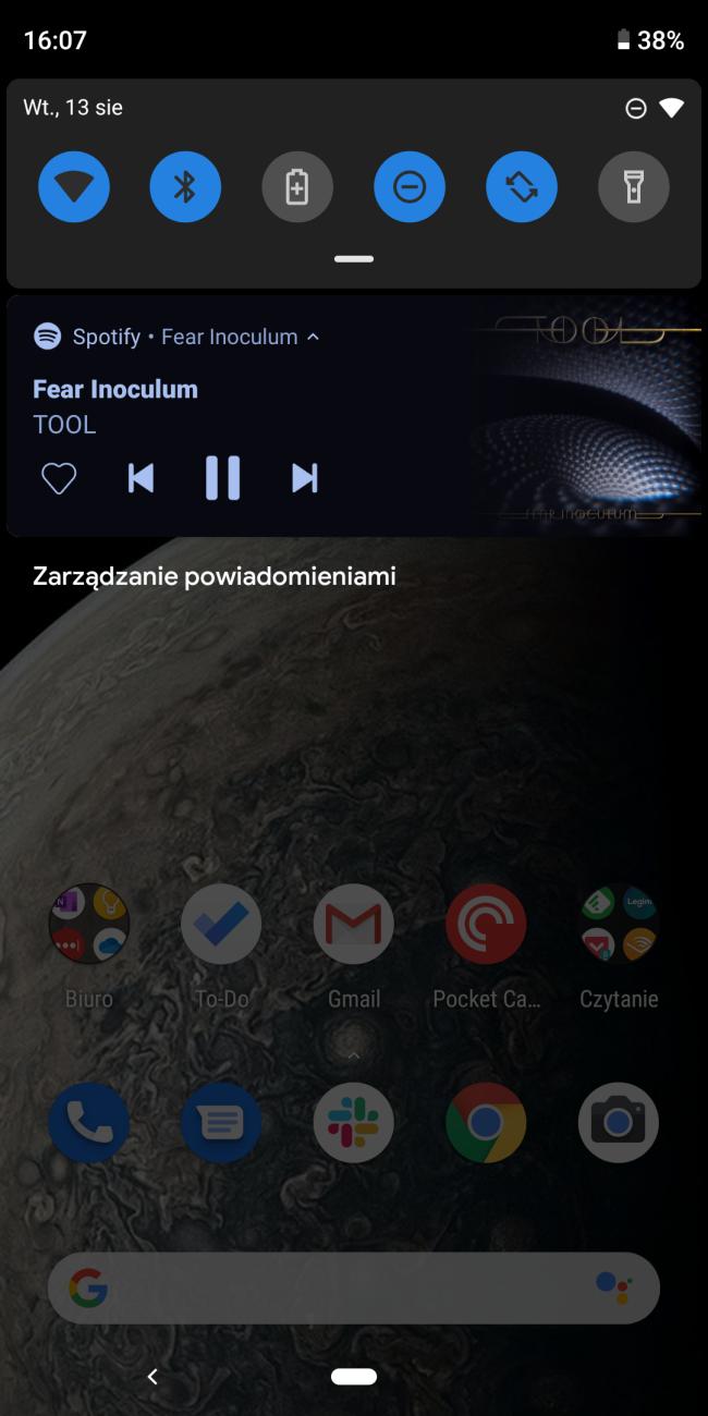 Spotify widget na Androida