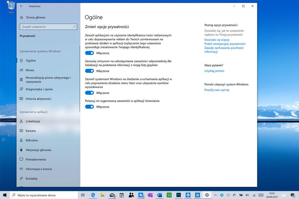 windows 10 śledztwo prywatność