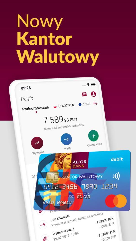 Kantor Walutowy aplikacja mobilna