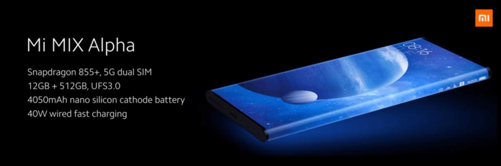 Xiaomi Mi Mix Alpha specyfikacja i 5G