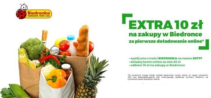 biedronka plus promocja extra 10 zł na zakupy