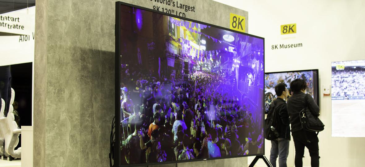 Widziałem największy telewizor 8K. To 120-calowy Sharp dla ludzi, którzy decydują o losach tego świata