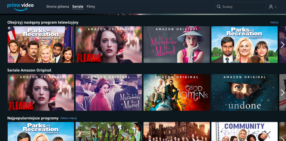 amazon prime video screen