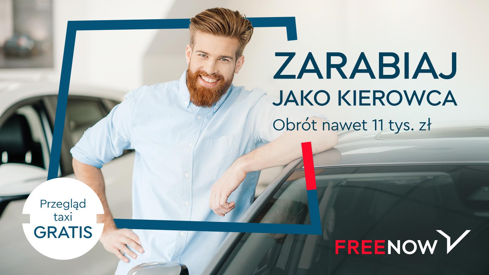 free now zarabiaj jako kierowca taxi