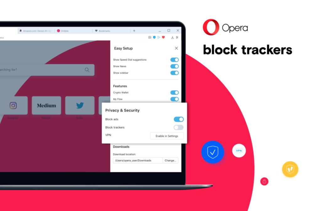 opera 64 blokowanie trackerów