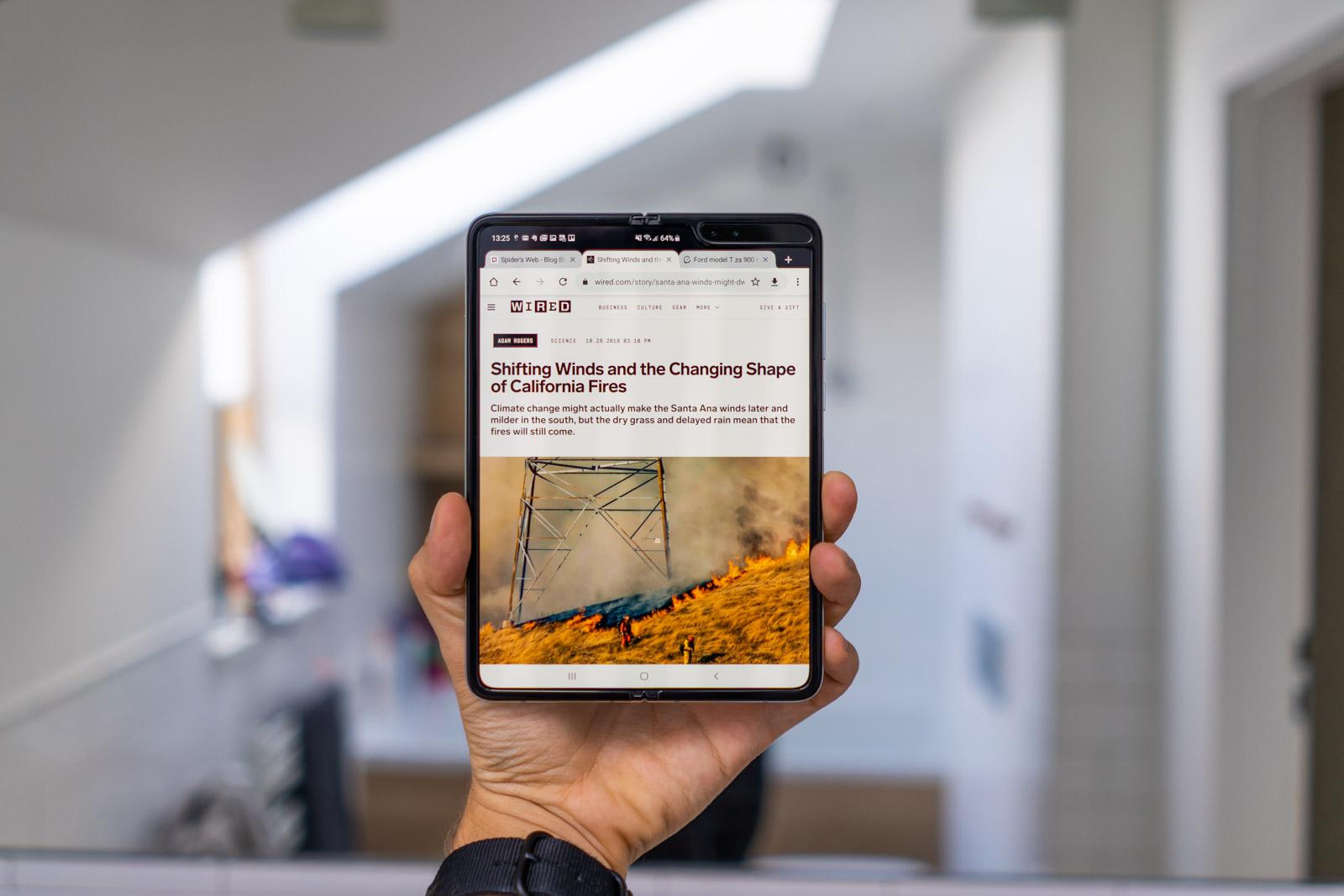 samsung galaxy fold jako tablet