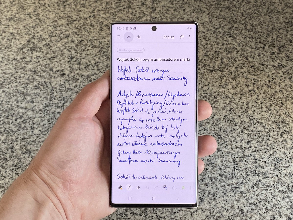 samsung sokół galaxy note 10