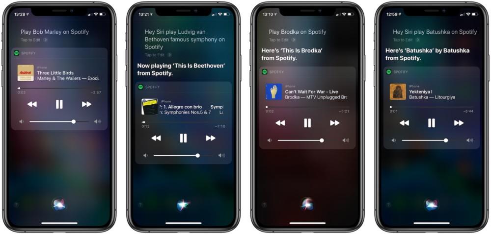 Siri obsługuje Spotify