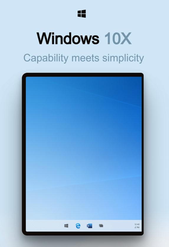 windows 10x interfejs