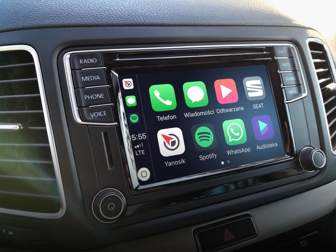 Można wrzucićtelefon do schowka. Yanosik w końcu trafia do Apple CarPlay