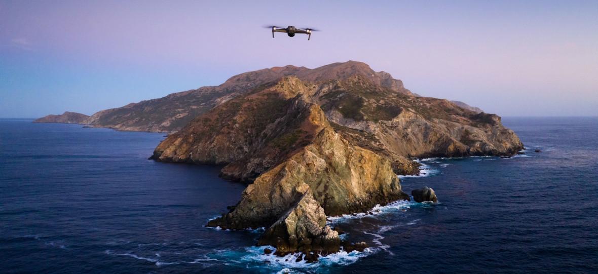 Postanowili odtworzyć tapetę z macOS Catalina. Bez wielkiego budżetu i ze średniej klasy dronem
