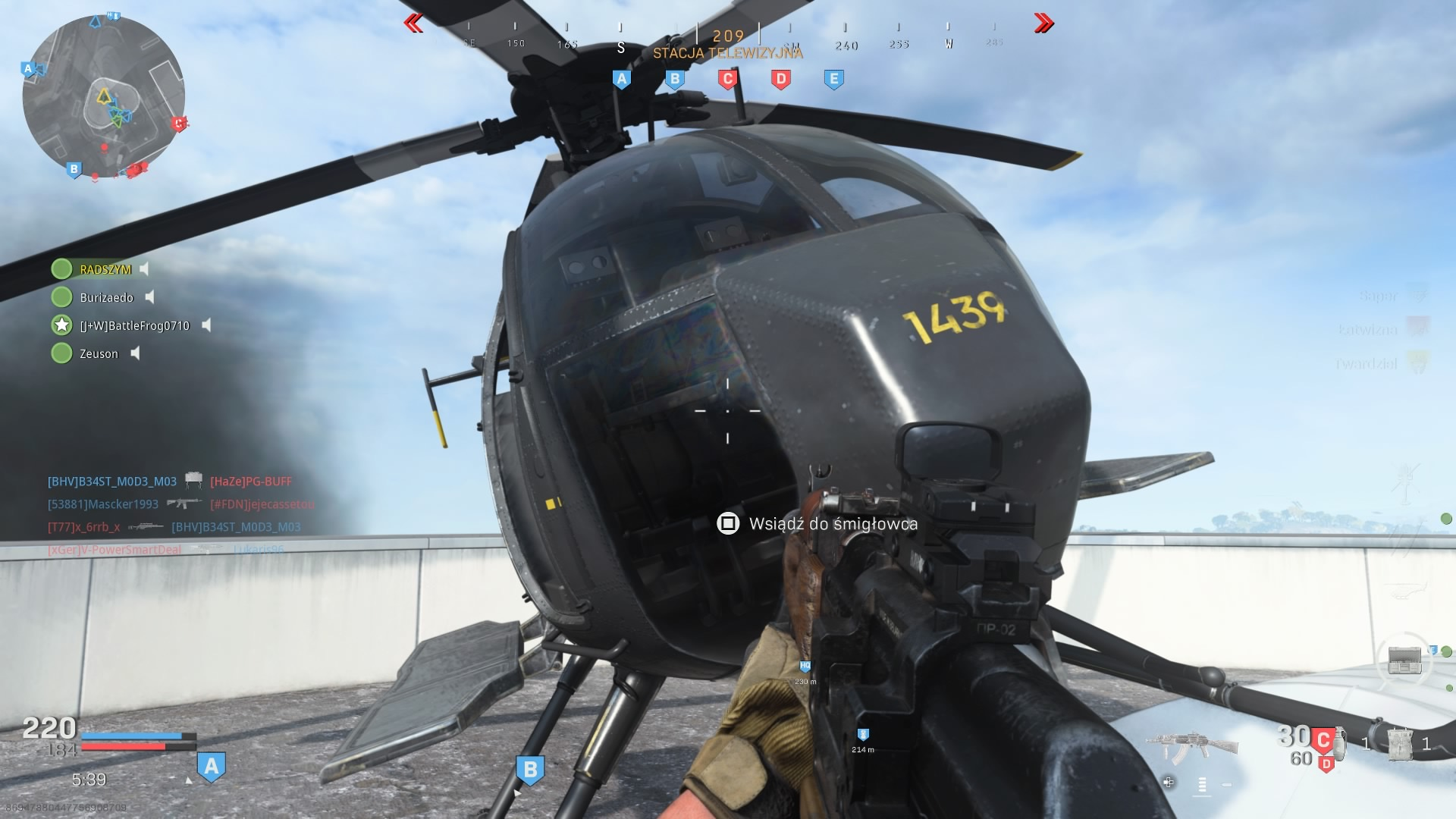Call of Duty Modern Warfare helikopter