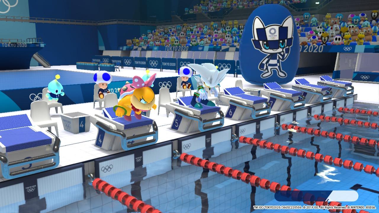Mario & Sonic at the Olympic Games Tokyo 2020 pływanie