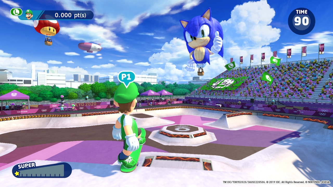 Mario & Sonic at the Olympic Games Tokyo 2020 skateboard